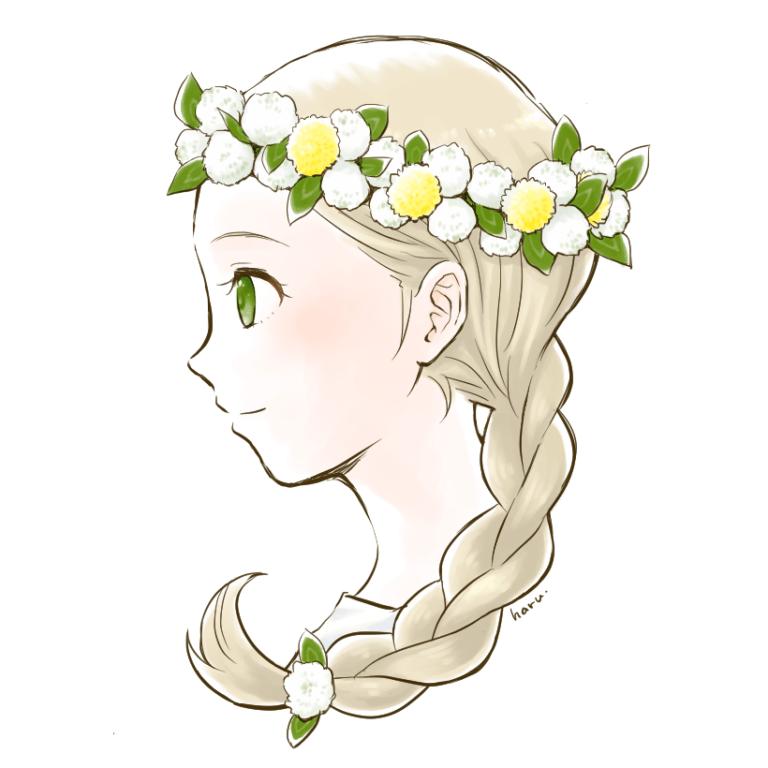 らくがき 花冠の少女